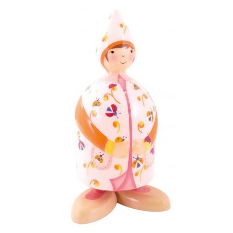 Filles et garcons - Lampe Fille Rose aux Coccinelles