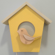 Lámpara casita pájaros